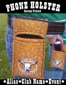 Cell Phone Holster/ Custom Print-Padded/ Insulated