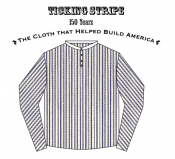 Cowboy Shirt Ticking Stripe