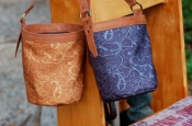 Canvas Shell Bag- Washed Paisley