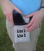 Padded/ Insulated Cell Phone Holster / Custom Print Option