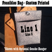 Padded/ Insulated Foam Possibles Bag/ Custom Print Option
